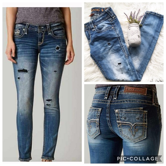 Rock Revival Denim - Rock Revival Dalia Skinny Stretch Jean 26 EUC